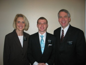 Elder Harpole with President & Sister Pitts